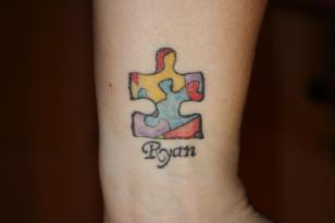 Susan's autism awareness tattoo