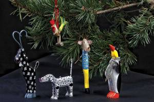 Money Folk Art Ornaments